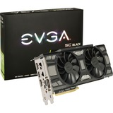 EVGA GeForce RTX 2060 SC BLACK GAMING, Grafikkarte 2x DisplayPort, 1x HDMI, 1 DVI-D