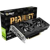 Palit GeForce RTX 2070 Dual V1, Grafikkarte 3x DisplayPort, HDMI, DVI-D