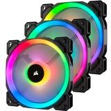 Corsair LL120 RGB PWM, Gehäuselüfter schwarz, 3er Pack, inkl Controller Lighting Node PRO