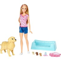 Mattel Barbie Hundemama, Welpen & Puppe Blond