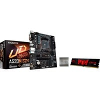 Gigabyte A520M S2H + AMD Ryzen™ 5 3600 + GSkill 8GB 3200 Mhz, PC-Aufrüstkit