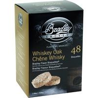 Whiskey Eiche Bisquetten, 48 Stück, Räucherholz