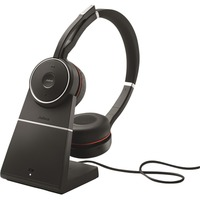 Jabra Evolve 75 UC Duo, Headset schwarz, inkl. Ladestation