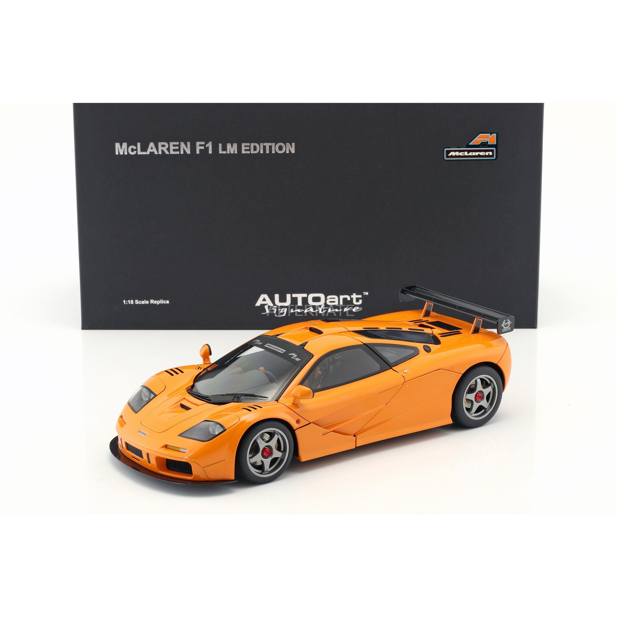 autoart mclaren f1 lm edition baujahr 1995 orange 1:18