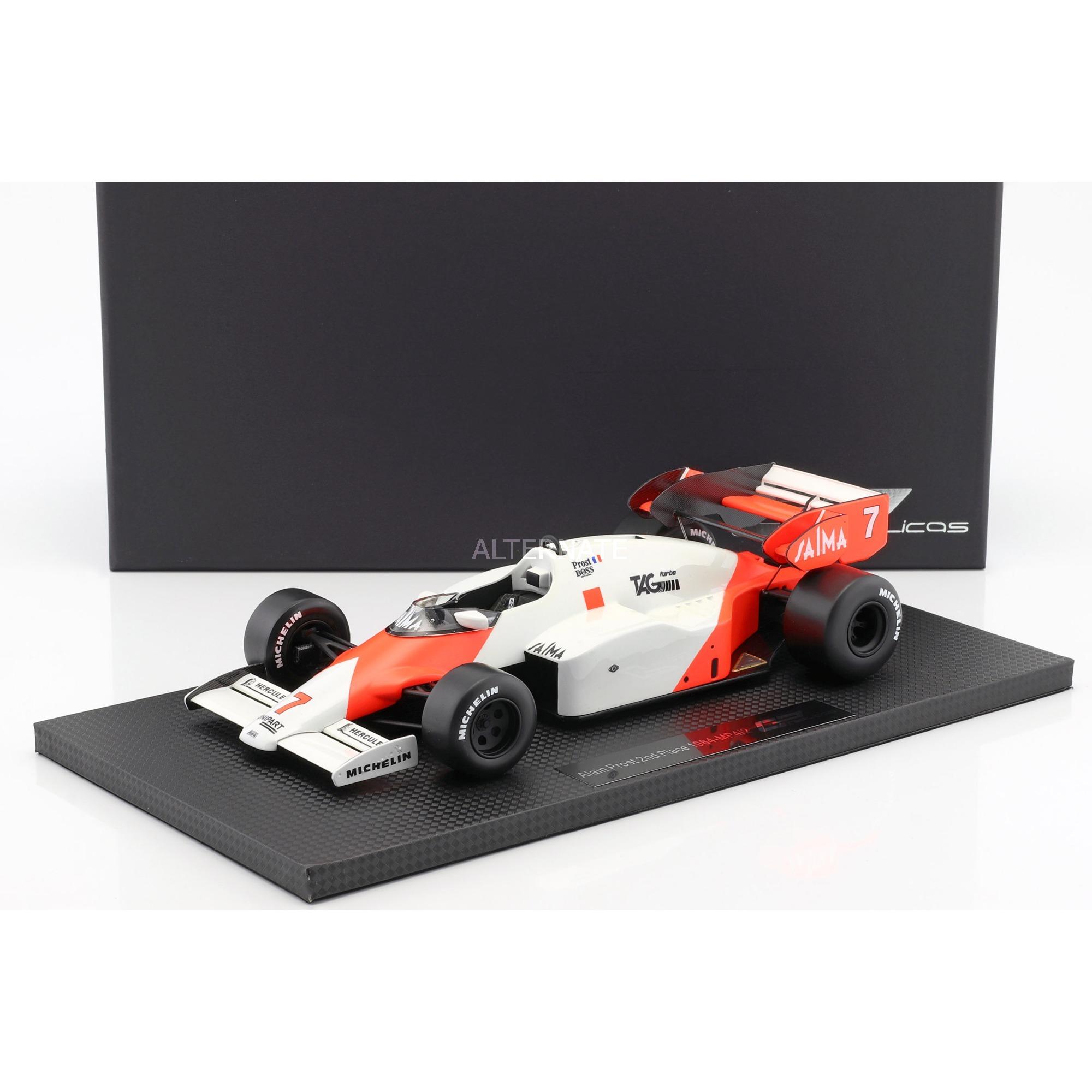 GP Replicas Alain Prost McLaren MP4/2 #7 2nd Formel 1 1984 1:18, Modellfahrzeug