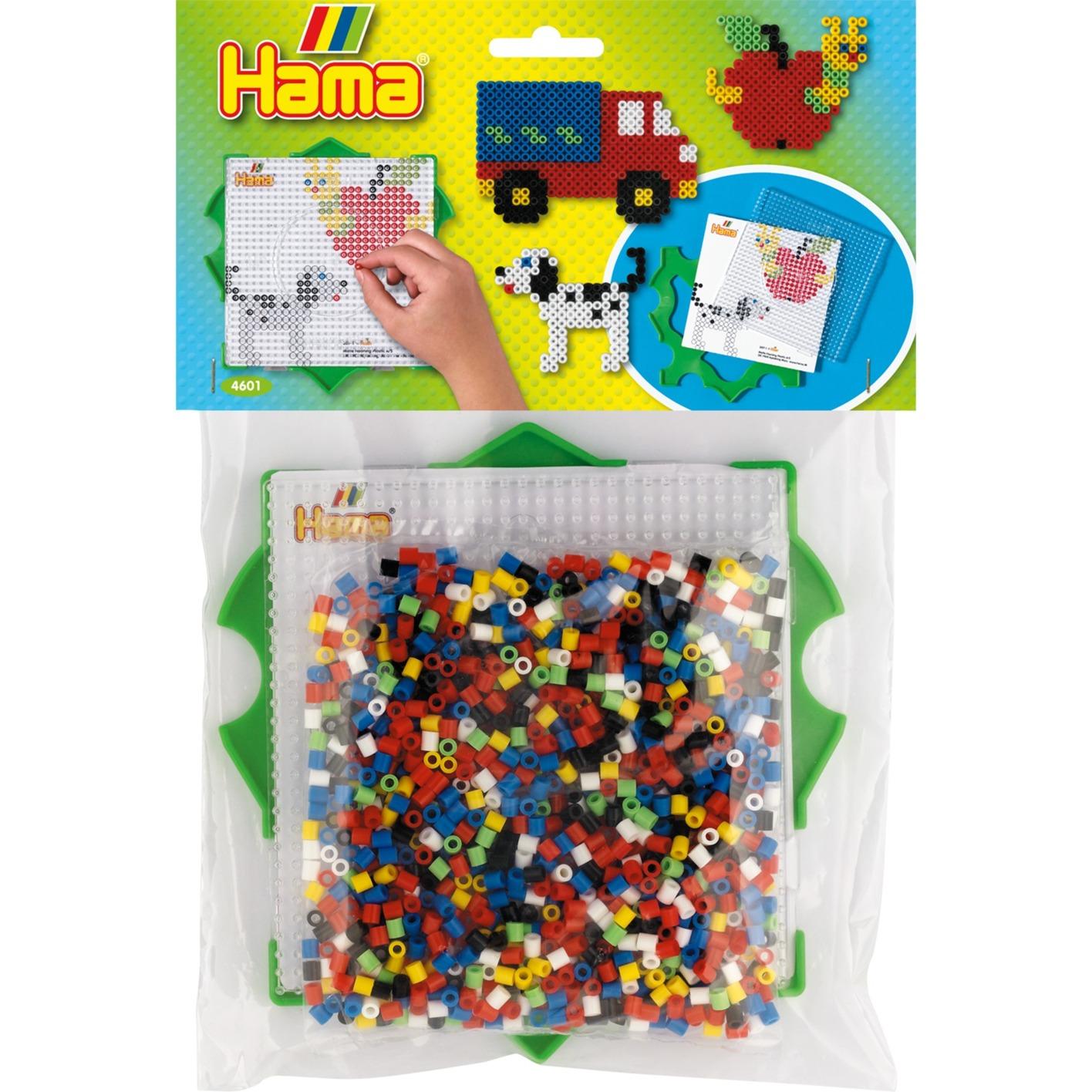 Hama Bügelperlen Multi-Rahmen mit Perlen, Basteln rot, 1000 Perlen