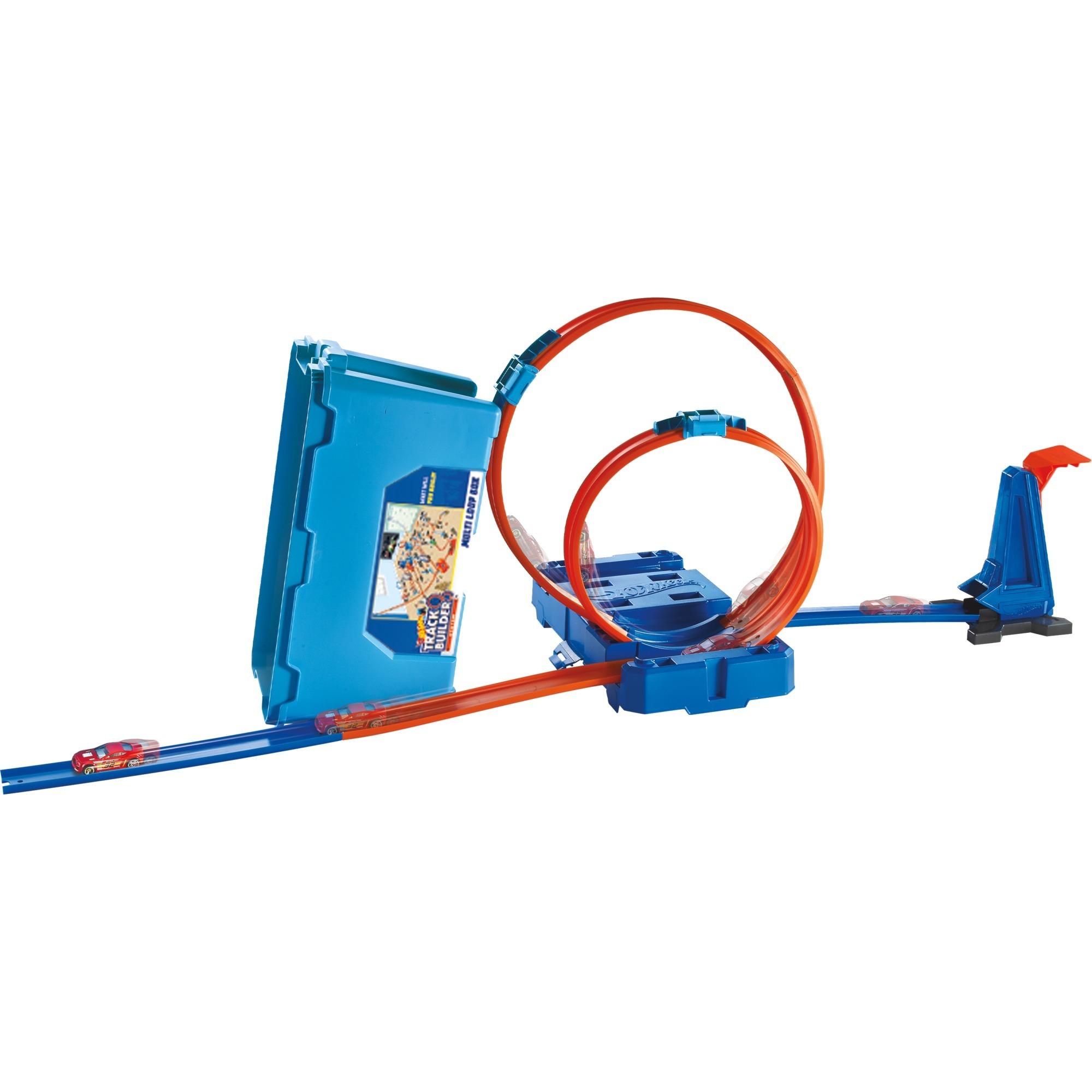 Hot Wheels Track Builder Super Multi Looping Box Rennbahn Baut Siku