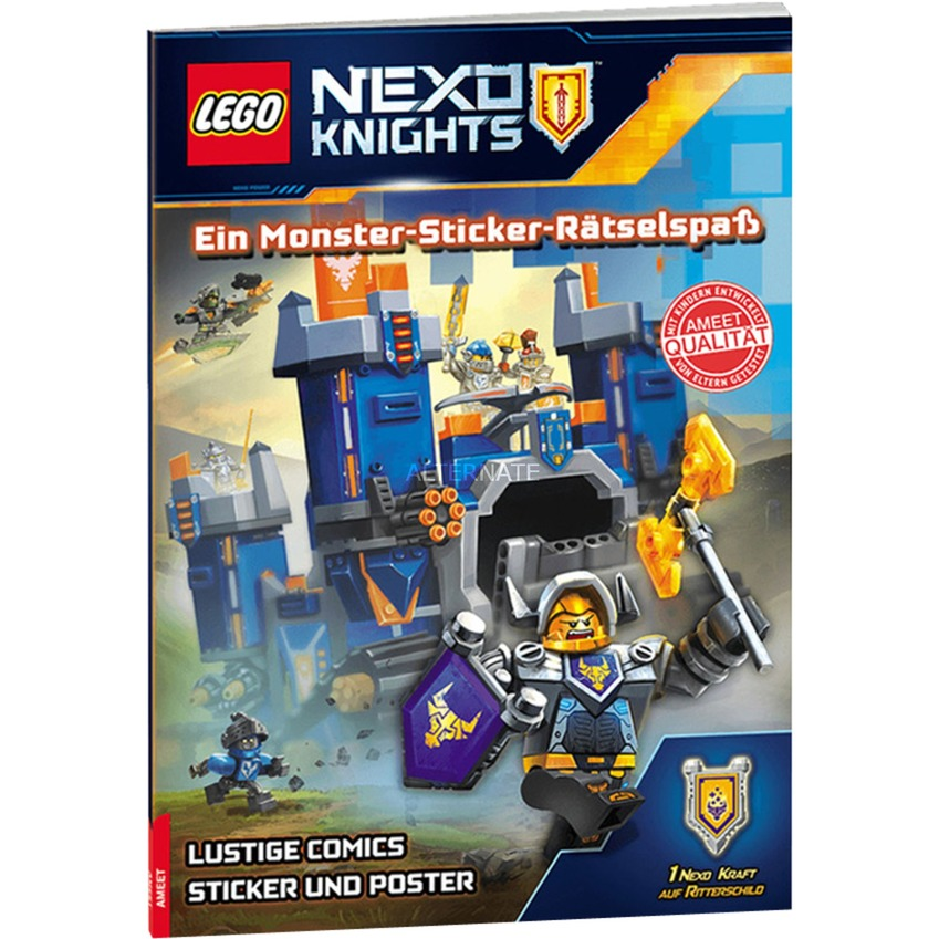 LEGO Nexo Knights: Ein Monster-Sticker-Rätselspaß, Buch - broschei