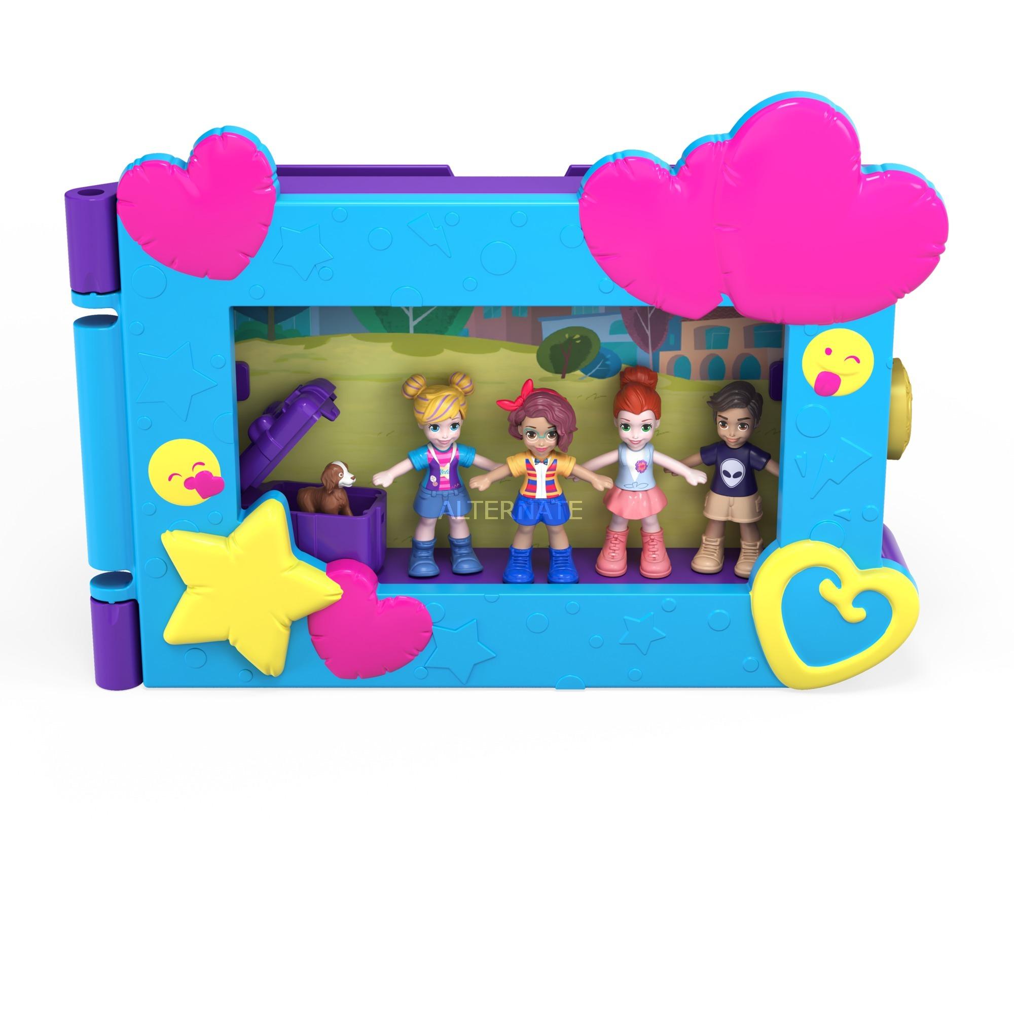 Mattel Polly Pocket Beste Freunde Bilderrahmen, Spielfigur blau/violett