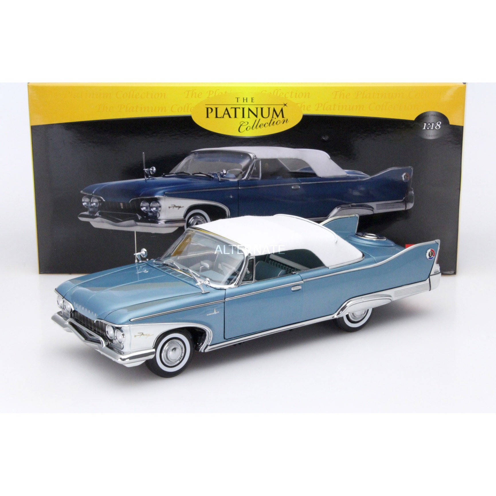 Sun Star Models Plymouth Fury Closed Convertible Baujahr 1960 Blau Wei 118 Sunstar Modellfahrzeug