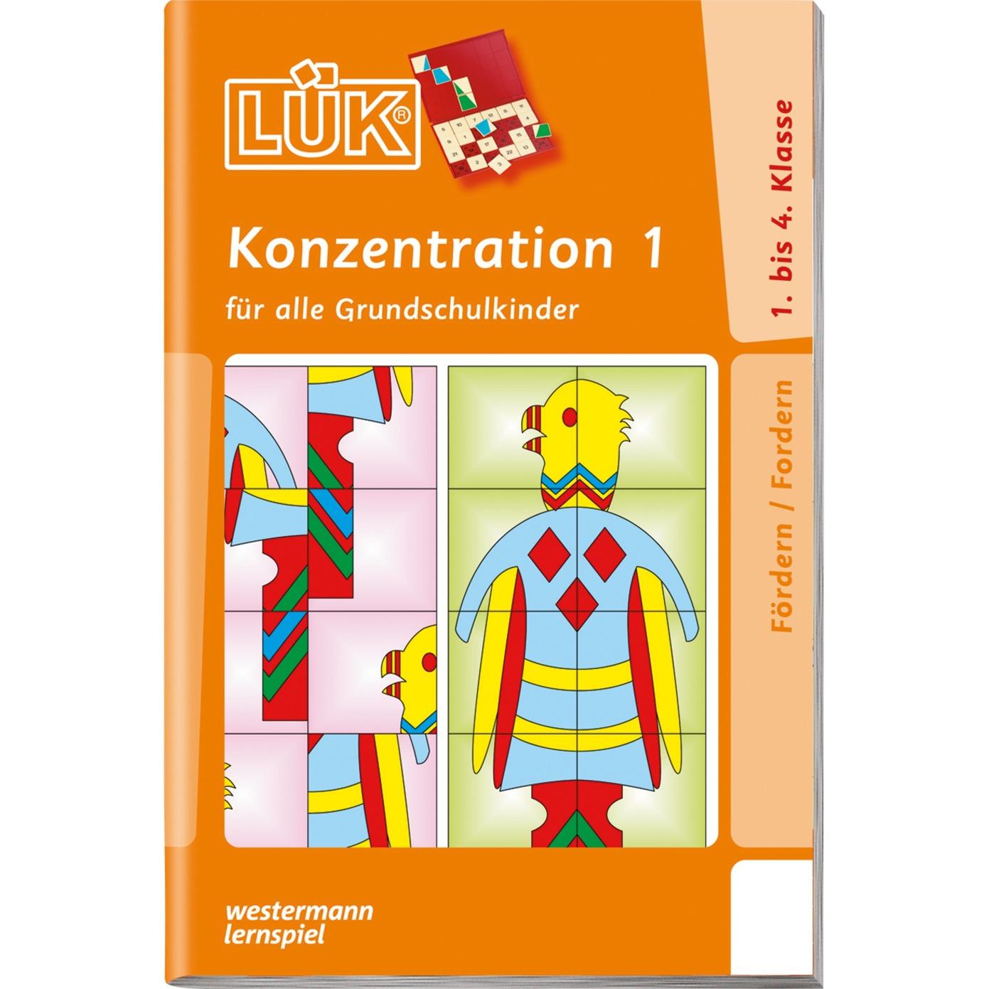 WESTERMANN LÜK-Heft: Konzentration 1, Lernbuch