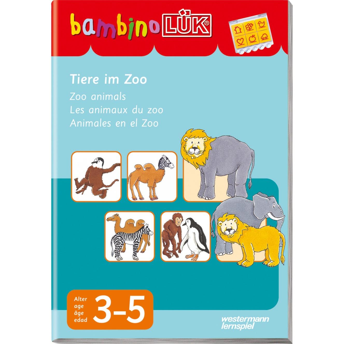 WESTERMANN bambinoLÜK-Heft: Tiere im Zoo, Lernbuch