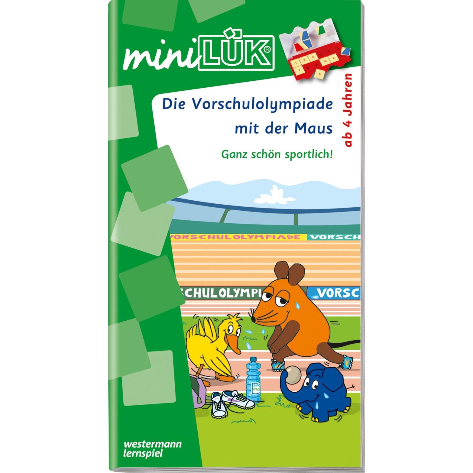 WESTERMANN miniLÜK-Heft: Die Vorschulolympiade mit der Maus 1, Lernbuch