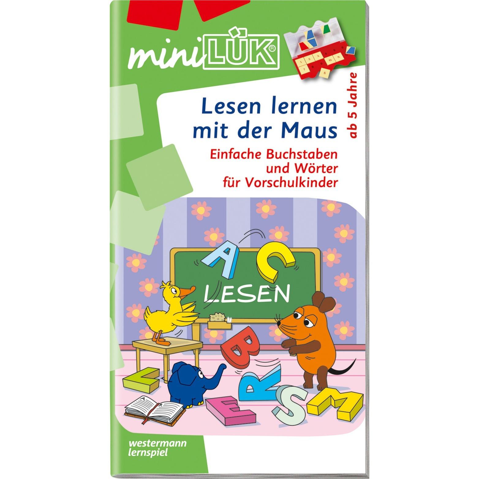 WESTERMANN miniLÜK-Heft: Lesen lernen mit der Maus, Lernbuch