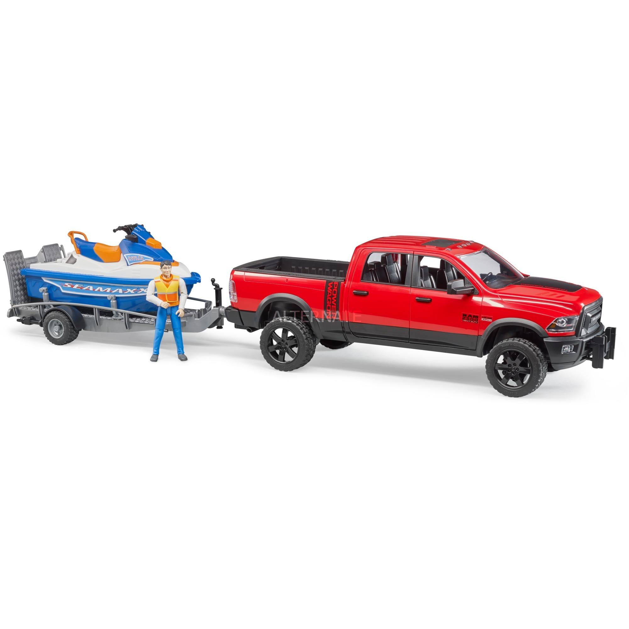 Bruder 02503 Ram 2500 Power Wagon mit Anhänger Spielzeug Auto NEU Autos