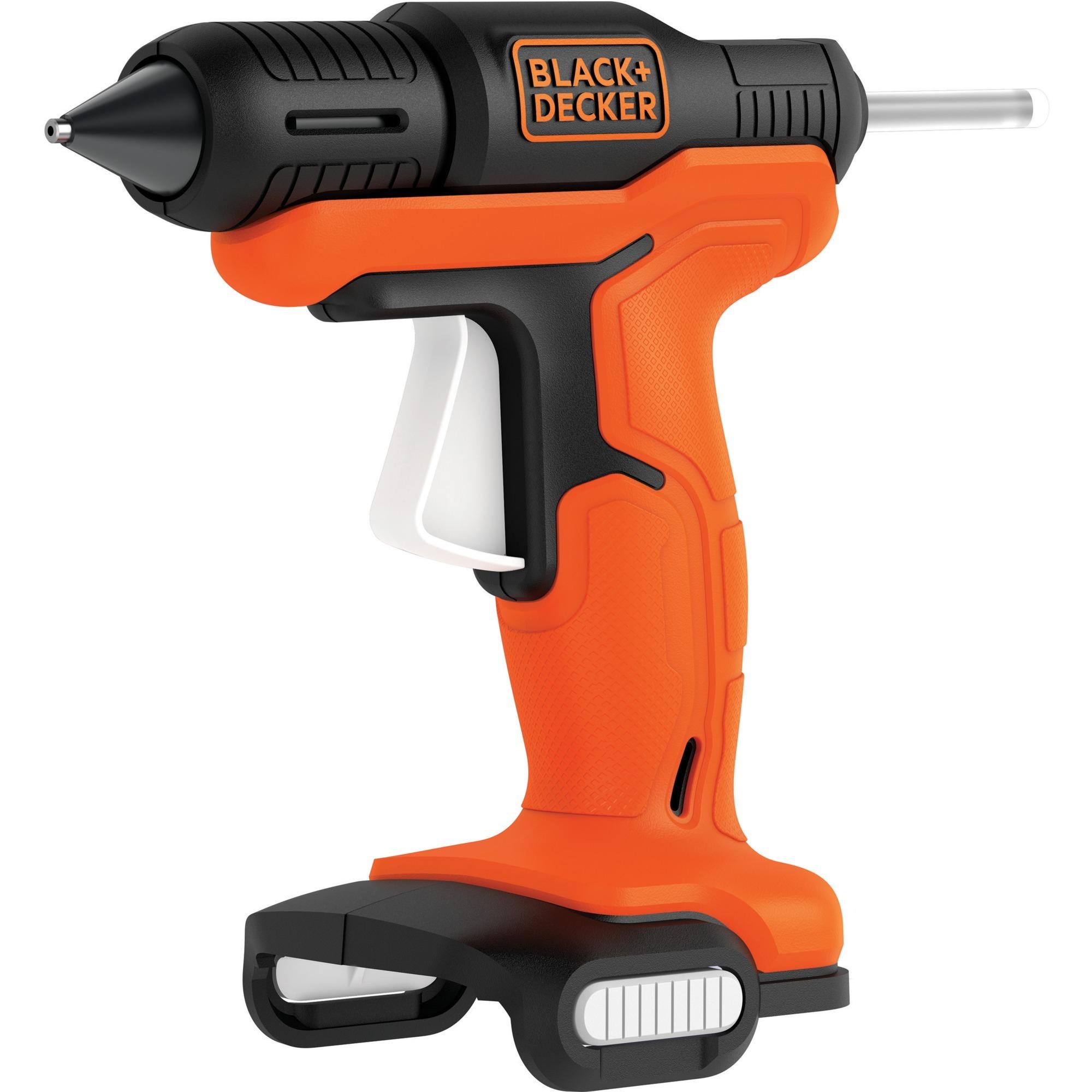 black+decker akku-heißklebepistole bdcgg12n orange/schwarz, ohne
