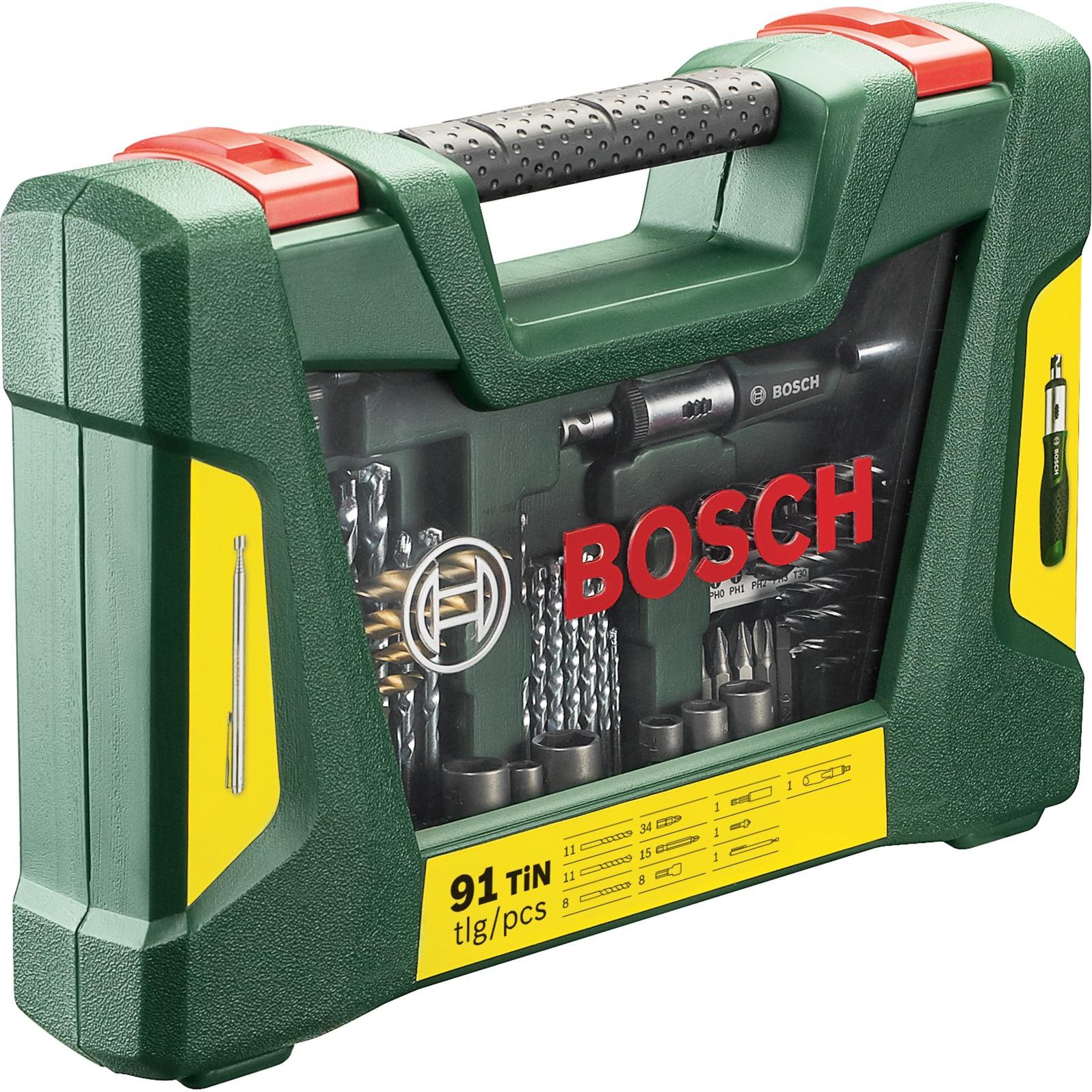 bosch v-line tin-bohrer- und bit-set, 91-teilig , bohrer- & bit-satz