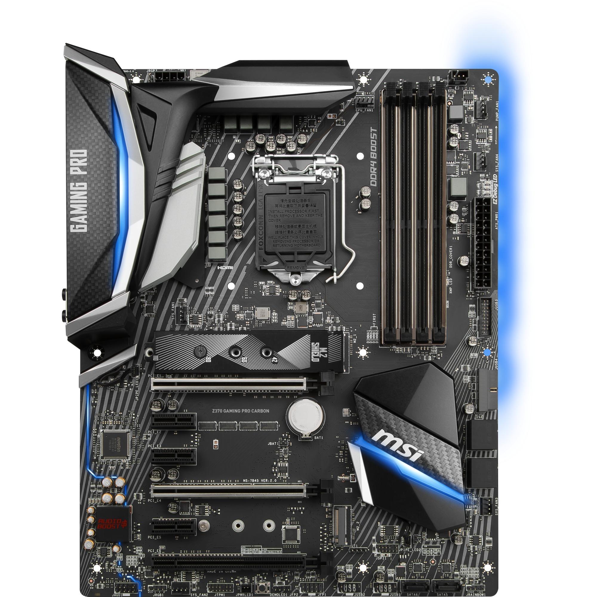 MSI Z370 GAMING PRO CARBON, Mainboard G-LAN Sound M.2 SATA3 USB3