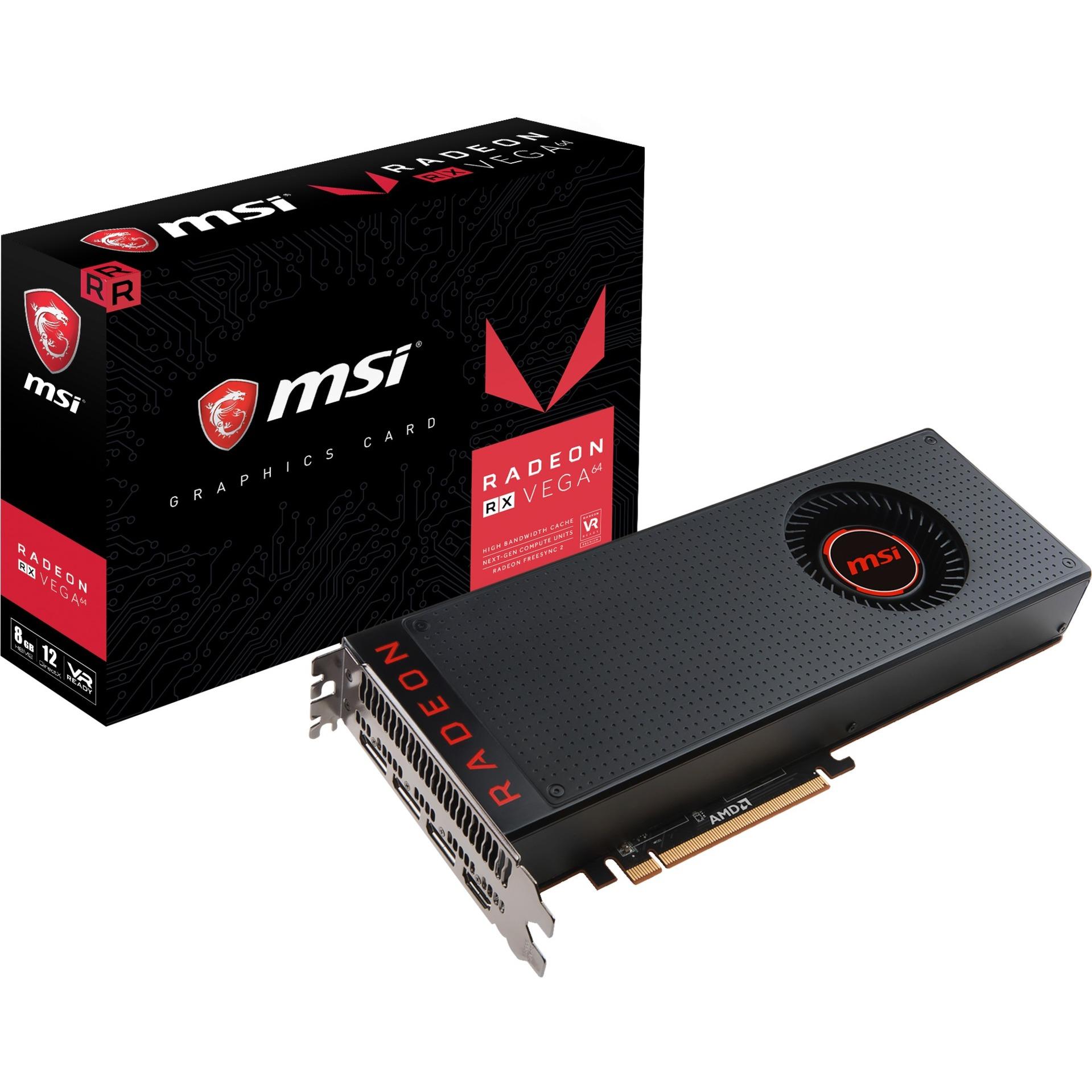 MSI Radeon RX VEGA 64 8G, Grafikkarte