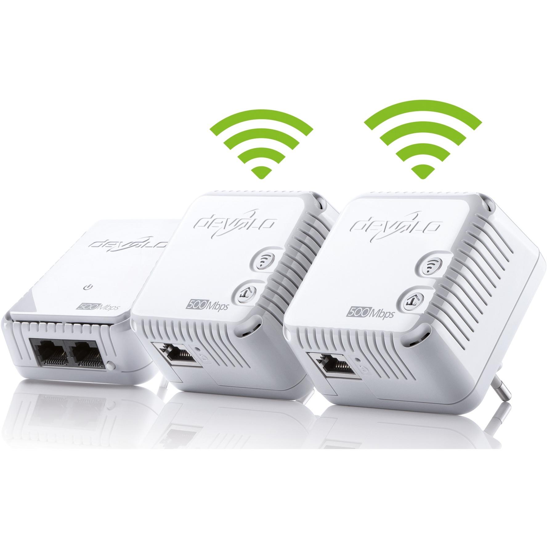 Devolo Dlan 500 Wifi Network Kit Powerline Wlan Wei 500mbit Adapters An Alternative To Ethernet Cable Wireless 1xlan Repeater 3 Adapter