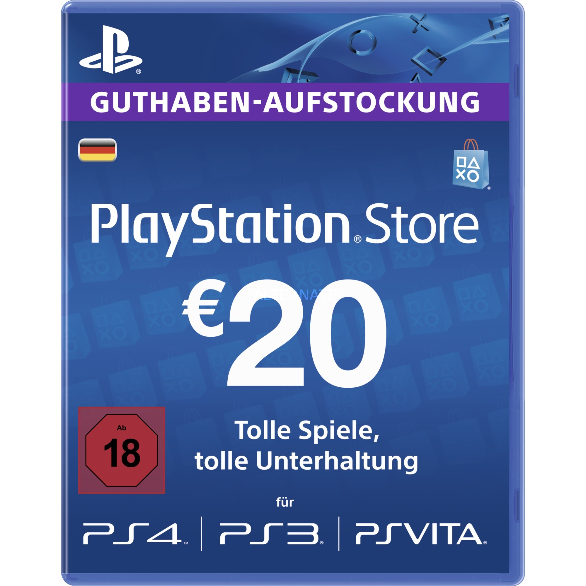 Playstation Network Karte.Psn Live Card 20 Euro Gamecard