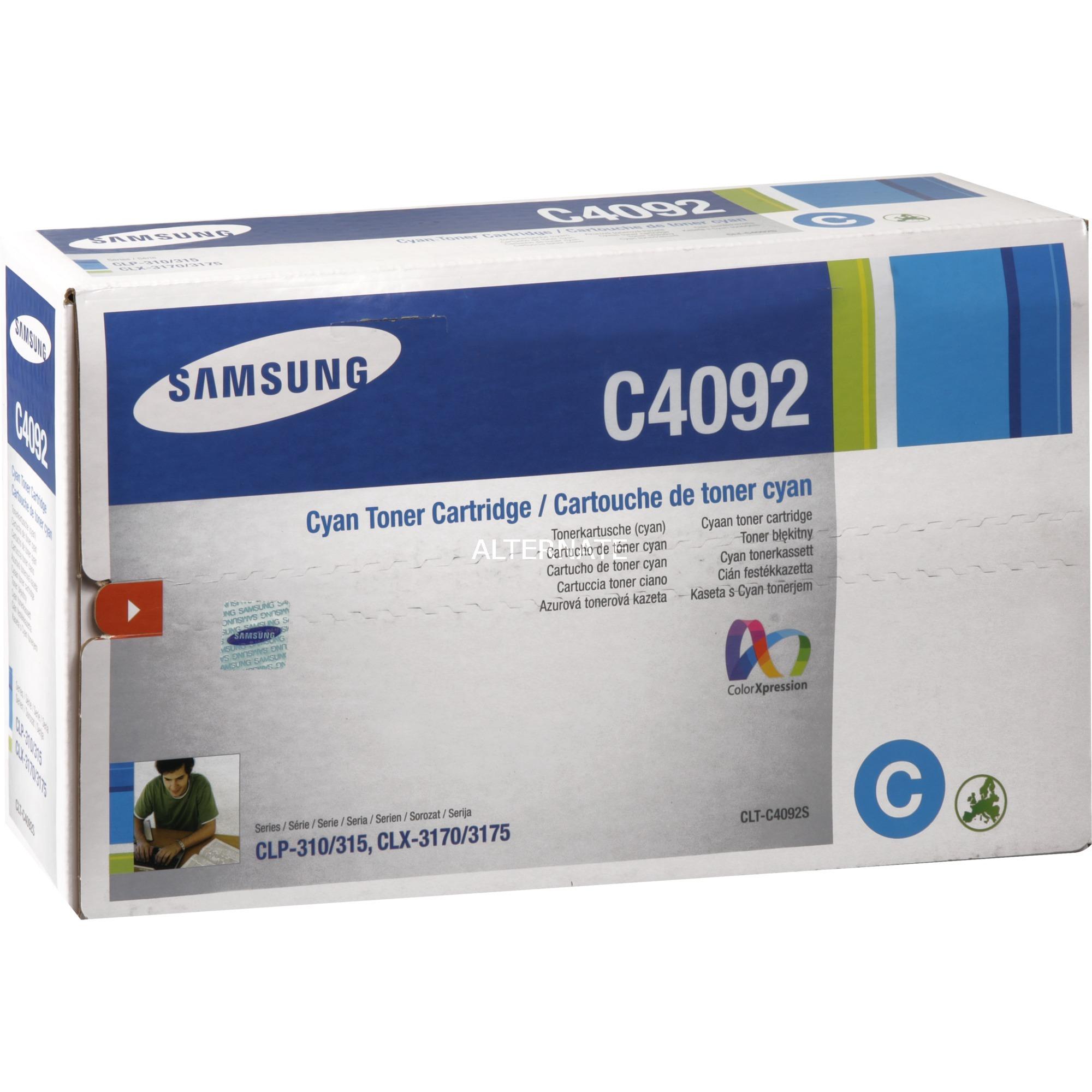 Samsung Toner Cyan CLT-C4092s