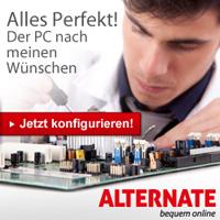 Wunsch PC und Hardwarekomponenten, Gaming PCs für jeden gibts bei Alternate