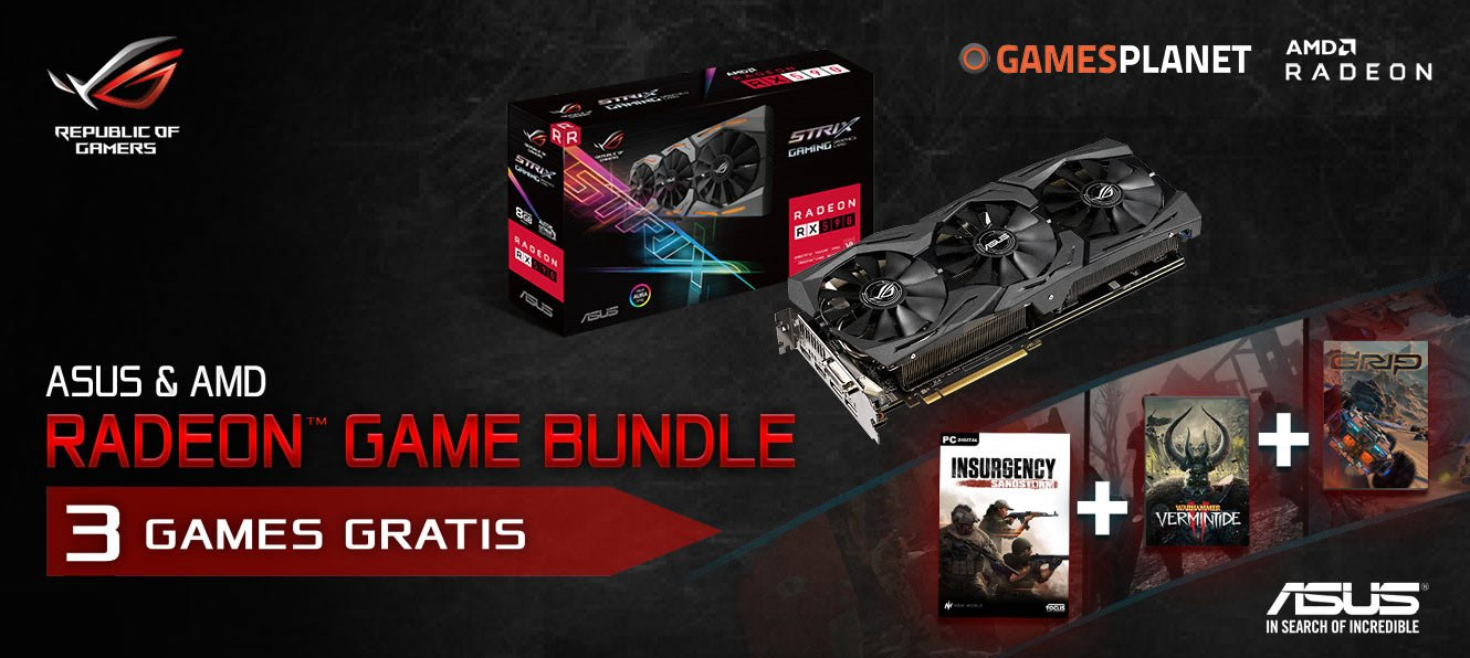 ASUS & AMD - Radeon Game Bundle: 3 Games Gratis