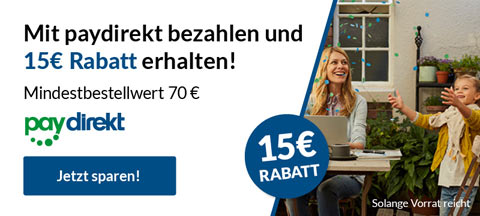 MAR-60682 Paydirekt 15€ Rabatt
