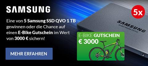 Samsung SSD E-Bike Gewinnspiel